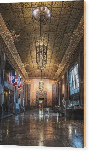Inside The Louisiana State Capitol Wood Print