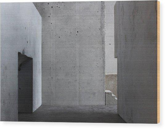 Inside The Walls 1 Wood Print by David Umemoto