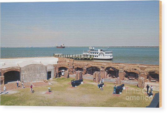 Inside View Of Fort Sumter Wood Print