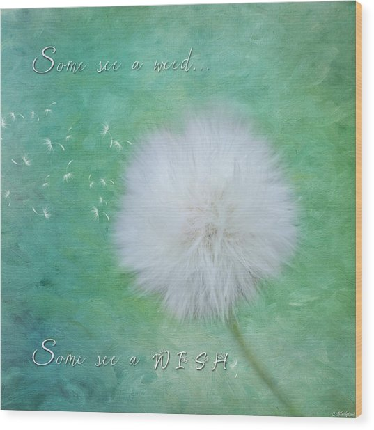 Inspirational Art - Some See A Wish Wood Print