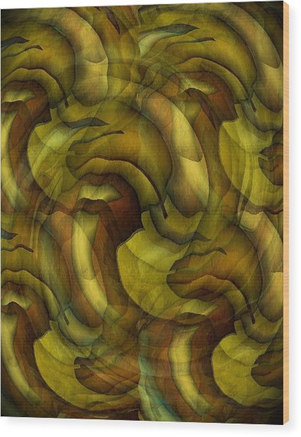 Inspired By Dali Wood Print by Terry Mulligan