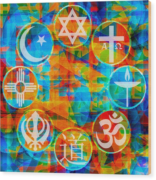 Interfaith 1 Wood Print