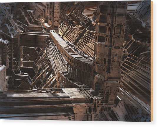 Interior Support Structure Wood Print