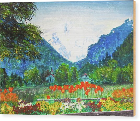 Interlaken Wood Print