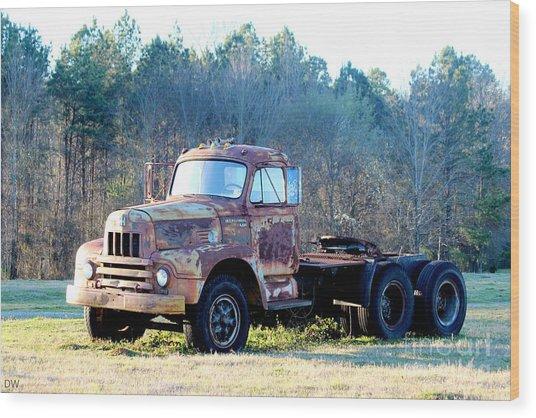 International Harvester R200 Series Truck Wood Print