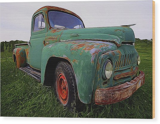 International Hauler Wood Print