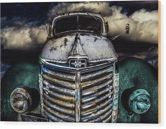 Wood Print featuring the photograph International Truck 6 by Michael Arend