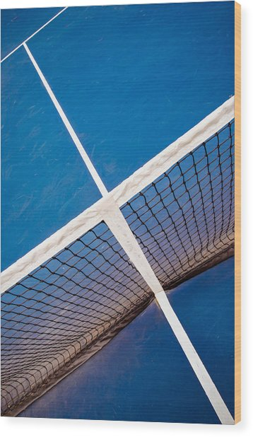 Intersections On The Tennis Court Wood Print