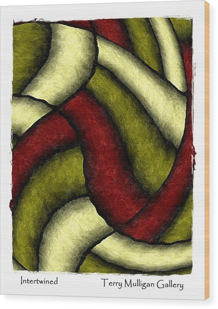 Intertwined Wood Print by Terry Mulligan