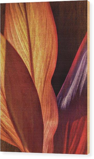 Interweaving Leaves I Wood Print