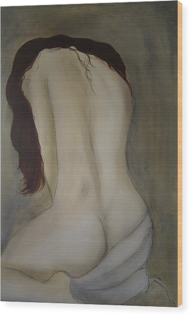 Intimacy Wood Print by Bridgette  Allan
