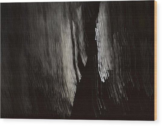 Into The Dark  Wood Print