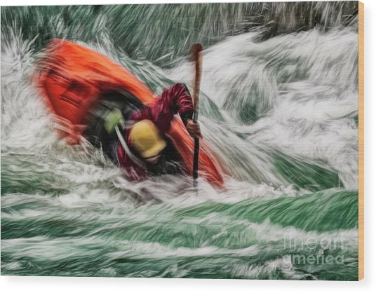 Into The Drink Wood Print