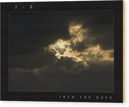 Into The Gate Wood Print by Jonathan Ellis Keys