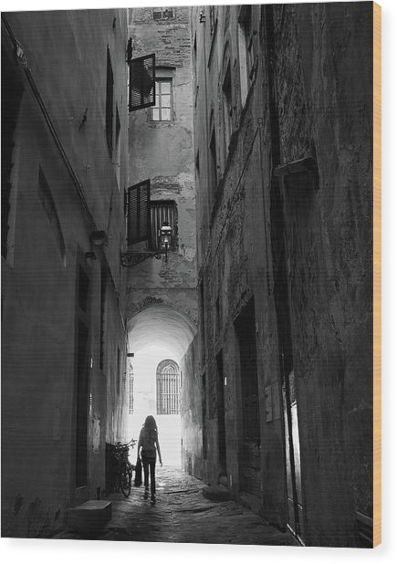 Into The Light, Florence, Italy Wood Print