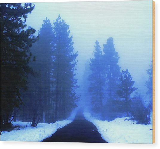 Into The Misty Unknown Wood Print