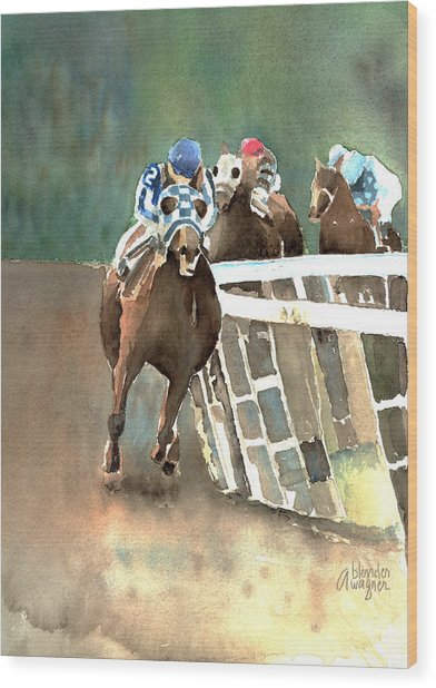 Into The Stretch And Headed For Home-secretariat Wood Print