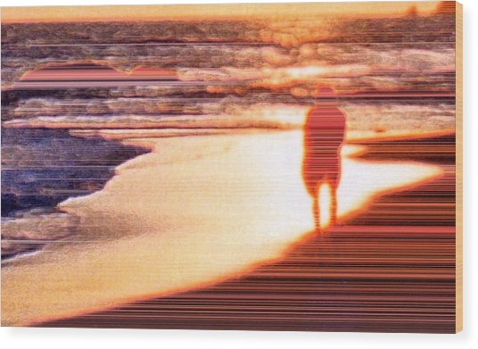 Into The Sunset 6 Wood Print by Lyle Crump