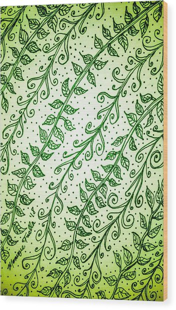 Into The Thick Of It, Green Wood Print