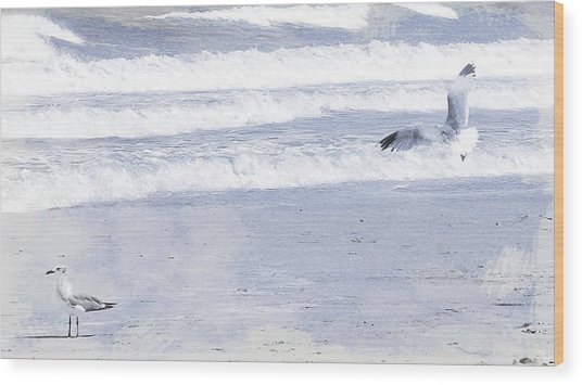 Into The Waves Wood Print by JAMART Photography