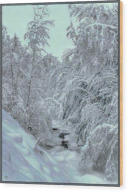 Into White Wood Print