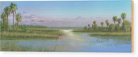 Intracoastal Glimmer Wood Print