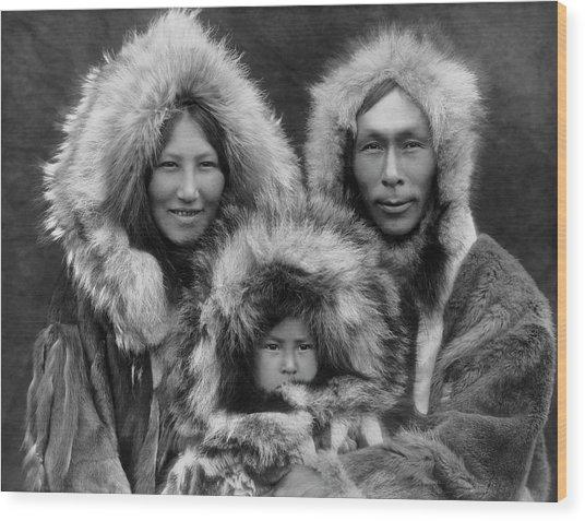 Inupiat Family Portrait - Alaska 1929 Wood Print