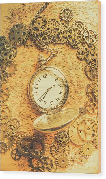Invention Of Time Wood Print