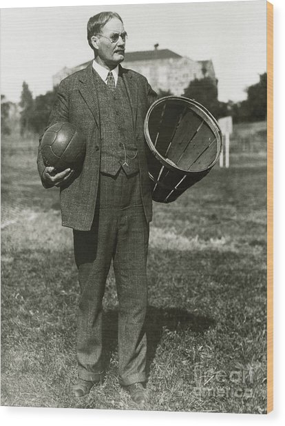 Inventor Of Basketball Wood Print