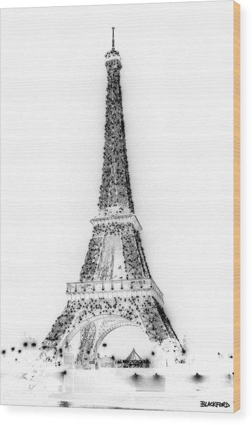 Inverted Eiffel Tower Wood Print by Al Blackford
