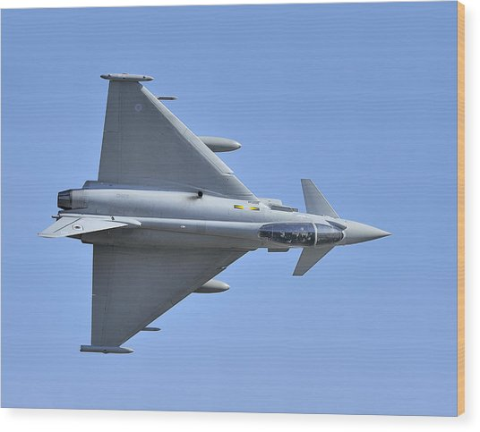 Inverted Typhoon In The Welsh Hills Wood Print by Barry Culling