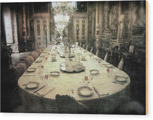 Invitation To Dinner At The Castle... Wood Print