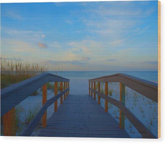 Invitation To Serenity Wood Print