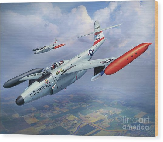 Iowa Ang F-89j Scorpion Wood Print by Stu Shepherd