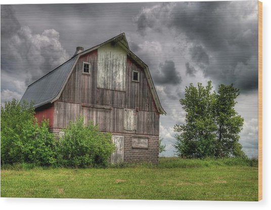 Iowa Barn Wood Print