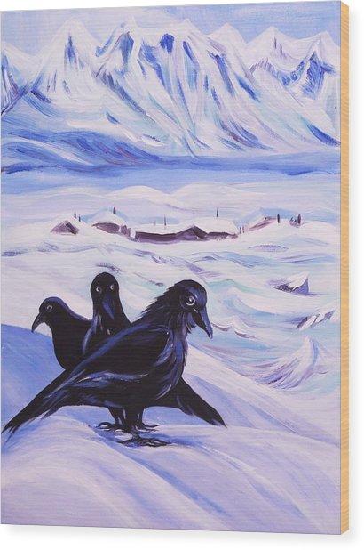 Iqaluit Wood Print by Anna  Duyunova