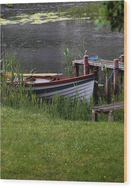 Ireland Boat Wood Print by Michael Carlucci