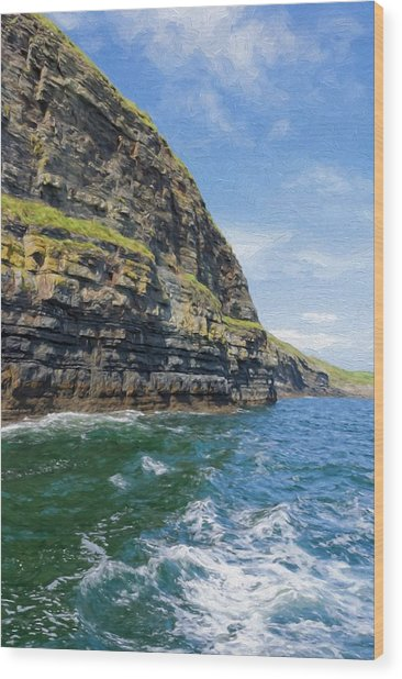 Ireland Cliffs Wood Print