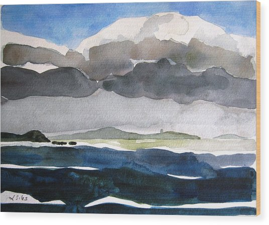 Ireland Mutton Isle Clare Wood Print by Lesley Giles