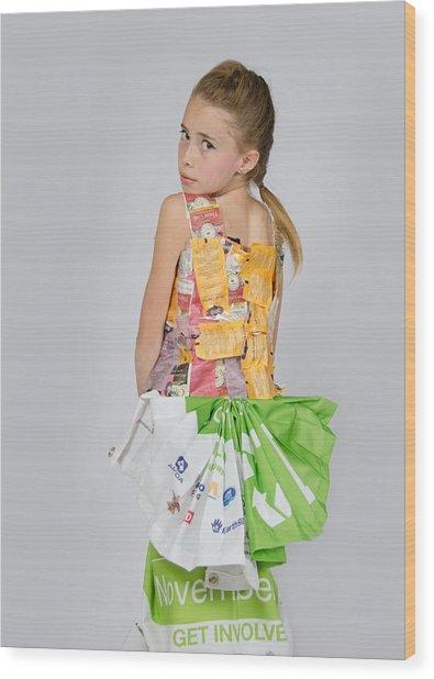 Irene In Tea Bags Shirt And Banners Skirt Wood Print