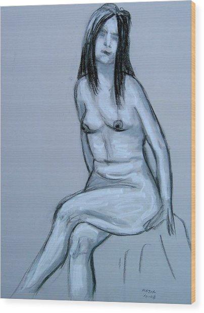 Irene Resting Wood Print