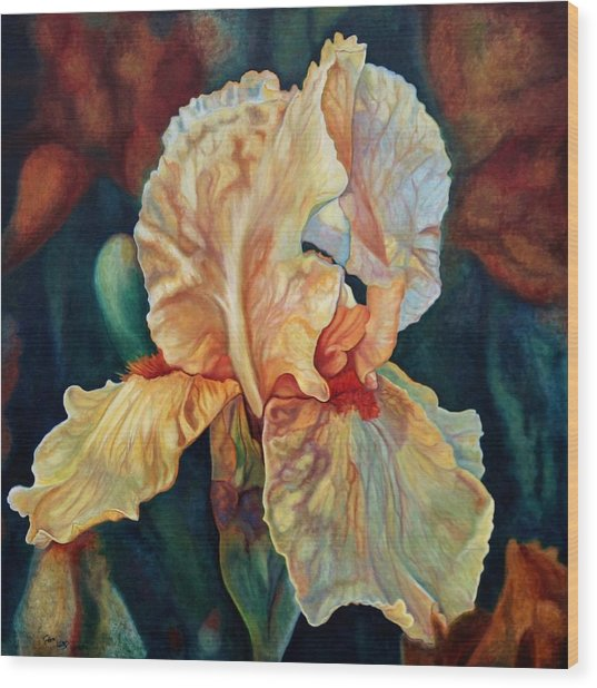 Iris 3_2017 Wood Print