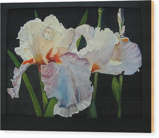 Iris Wood Print by Dwight Williams
