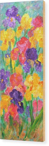 Iris Garden Wood Print