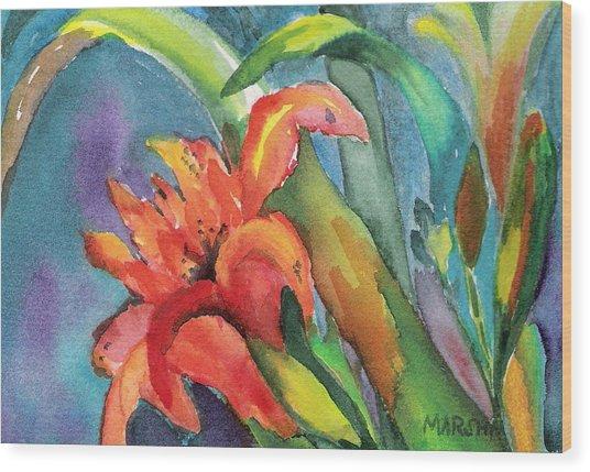 Iris Growing Wild Wood Print
