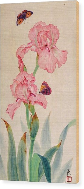 Iris IIi Wood Print by Ying Wong
