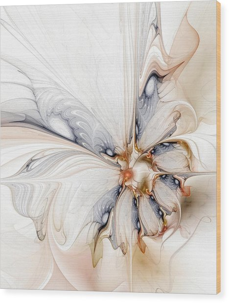 Iris Wood Print by Amanda Moore