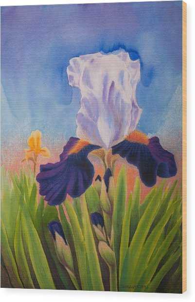 Iris Morning Wood Print