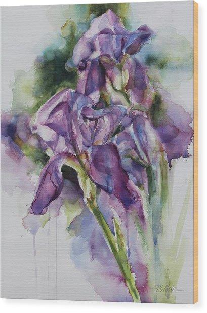 Iris Song Wood Print