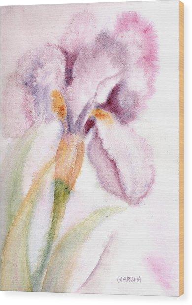 Iris Study I Wood Print